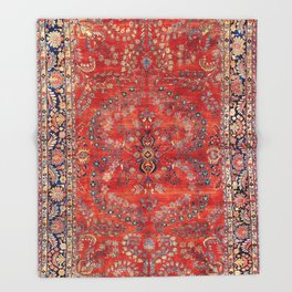 Sarouk Arak West Persian Carpet Print Throw Blanket