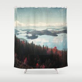 The Fjord Shower Curtain