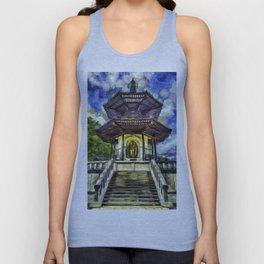 The Pagoda Vincent Van Gogh Unisex Tank Top