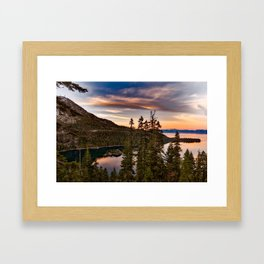 Lake Tahoe Sunset Framed Art Print