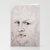 beard Stationery Cards featuring beard by Ela Caglar