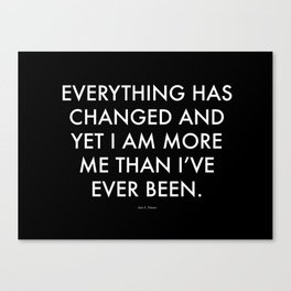 """""""Everything"""" Text Canvas Print"""