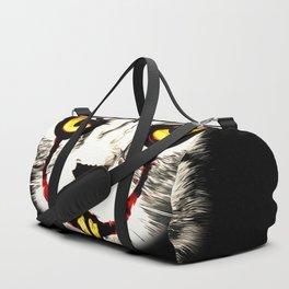 cat clown kittywise no text vector art Duffle Bag