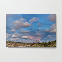 Eastern Sky at Sunset on the Gulf Coast Metal Print