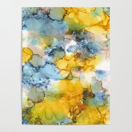 Alcohol Ink 'Fools Gold' Poster