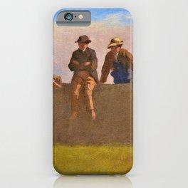 12,000pixel-500dpi - Five Boys On A Wall - Eastman Johnson iPhone Case