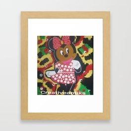 Jamaica Happy me Minnie Framed Art Print