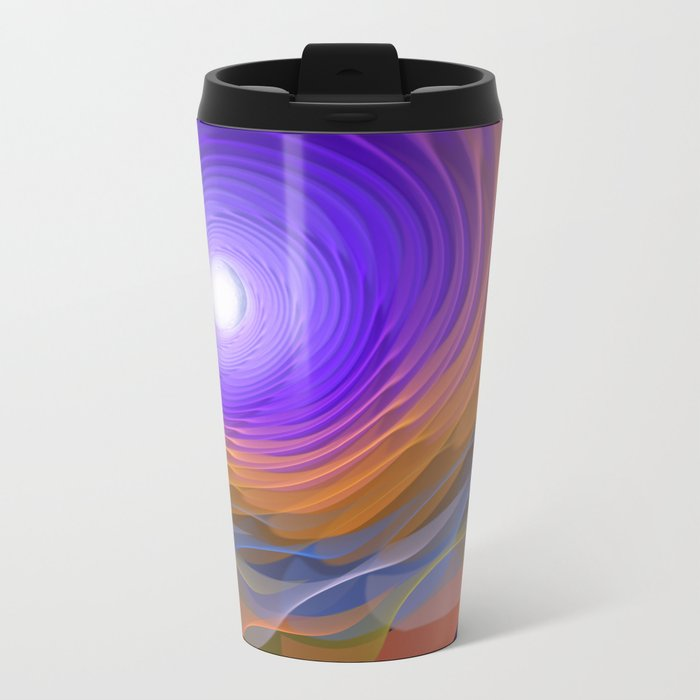 Whispering water and a blue moon Metal Travel Mug