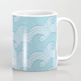 Blue Sea Waves Coffee Mug