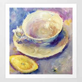 A Twist of Lemon Teacup Coffee Cup Art Print
