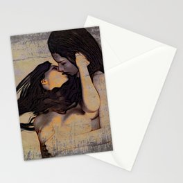 Women Kissing Stationery Cards