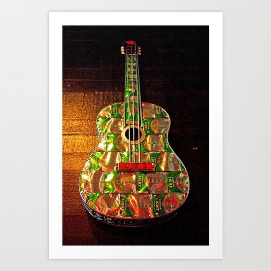 Heineken guitar Art Print
