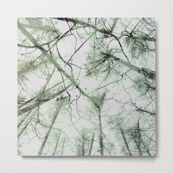 STRANGE TREES Metal Print