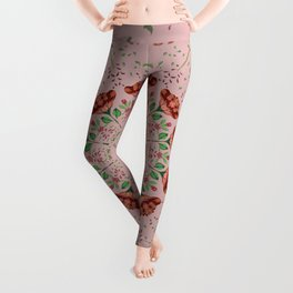 Roses and Carnations 1a Leggings