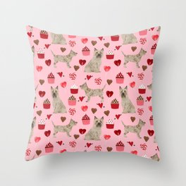 Cairn Terrier dog breed valentines day love pet dog person valentine by pet friendly Throw Pillow