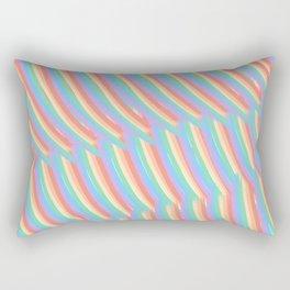 Rainbow Stripes 7 Rectangular Pillow