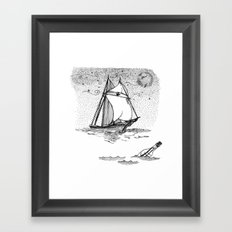 message in a bottle Framed Art Print