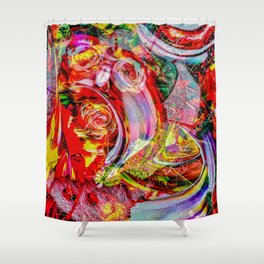 Abstract - Perfektion 150 Shower Curtain