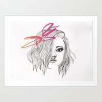 bow Art Prints featuring Bow by spllinter