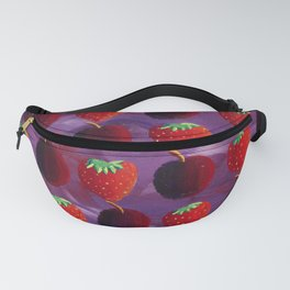 Strawberries and Plums Fanny Pack