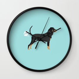 Coonhound funny farting dog breed gifts Wall Clock