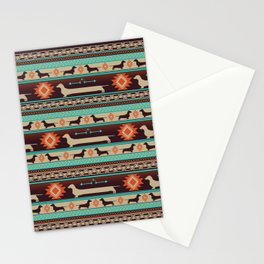 Boho dogs | Smooth Dachshund sunset Stationery Cards
