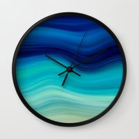 bedding Wall Clocks featuring SEA BEAUTY 2 by Catspaws