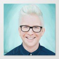 tyler oakley Canvas Prints featuring Tyler Oakley by kelsey cooke art