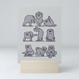 Scottish Fold Yoga Mini Art Print