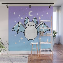 Cute Night Bat Wall Mural