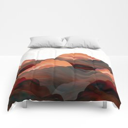 """""""Coral Mountains"""" Comforters"""