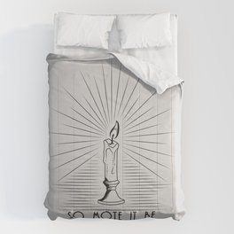 So Mote It Be (White Edition) Comforters