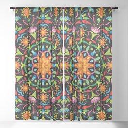 Swedish Folk Art Sheer Curtain