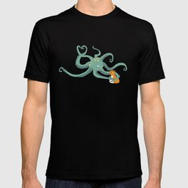 Octopus Loves Kitty T-shirt
