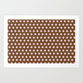 Pink & Brown dot Art Print