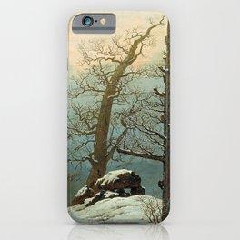 Caspar David Friedrich Cairn in Snow iPhone Case