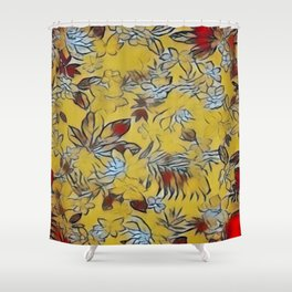 Asian Floral Shower Curtain