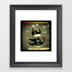 Bad Bat-lentines Framed Art Print