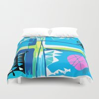 carnival Duvet Covers featuring Carnival by Monique Tyacke