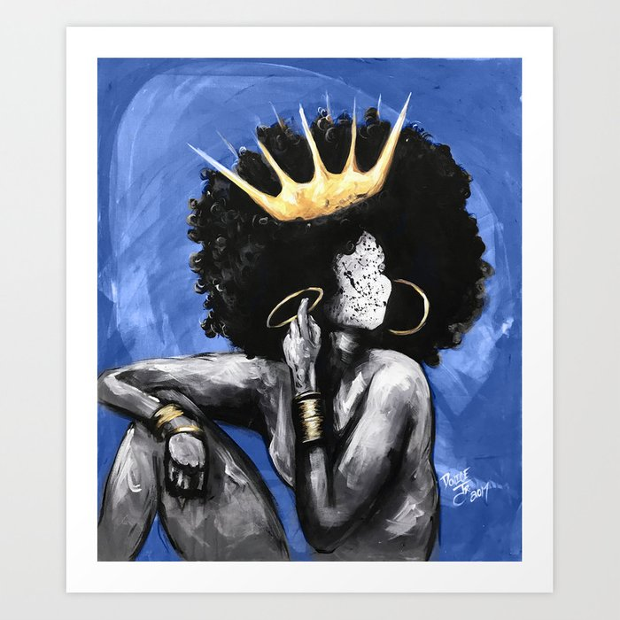Naturally Queen VI BLUE Kunstdrucke