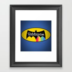 Batstagram Framed Art Print