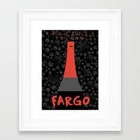fargo Framed Art Prints featuring Fargo by Lorcy