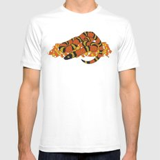 Mexican Candy Corn Snake White Mens Fitted Tee MEDIUM