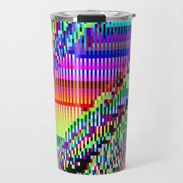 Equatorial Rainbow (Glitch Art / Pixel) Travel Mug