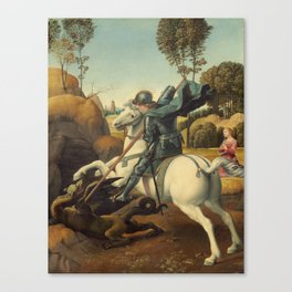 Saint George and the Dragon Oil Painting By Raphael Canvas Print