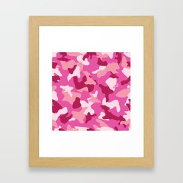 Pink camo camouflage army pattern Framed Art Print