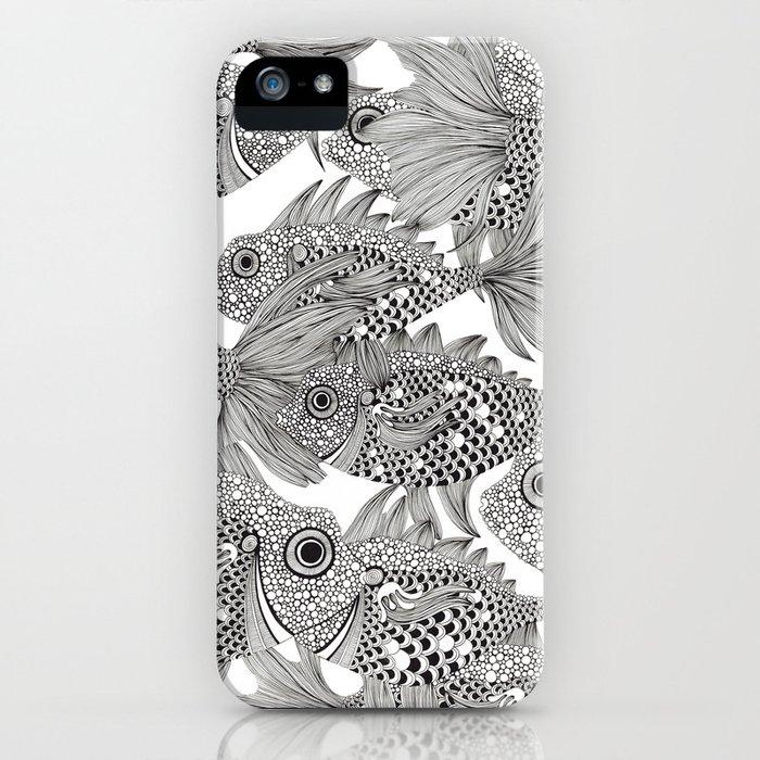 Fish School II iPhone Case