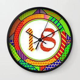 OLD ENGLISH Modern – 2018 – SQUARE Pop Art Wall Clock