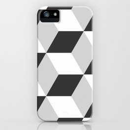 Cubism Black and White iPhone Case