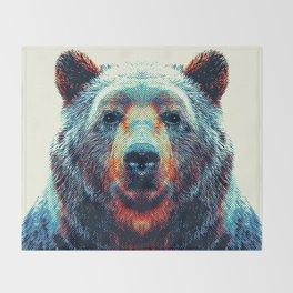 Bear - Colorful Animals Throw Blanket